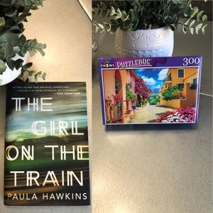 🔴 2/4/1 BOOK+PUZZLE The girl on the train/HAWKINS